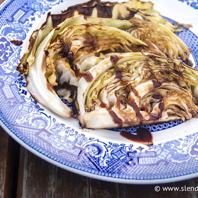 Roasted Hoisin Glazed Cabbage