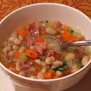 Tuscan White Bean Soup with Prosciutto