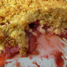 Strawberry & Rhubarb Crumble