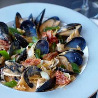 Red Curry Mussels with Kimchi Puree from 'The Kimchi Cookbook'