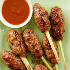 Bacon-Pork Pops on Lemongrass Sticks