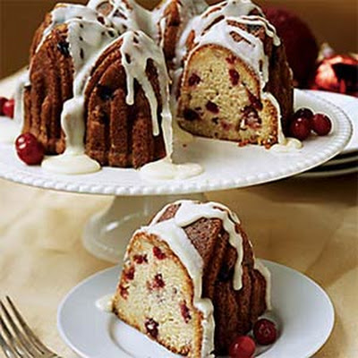 Orange-Glazed Cranberry Pound Cake