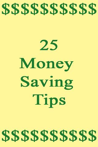 Money Saving Tips - Free