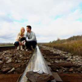 railway engagement by Marcel Monette - People Couples