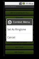 Screenshot of Duty Calls Military Ringtones