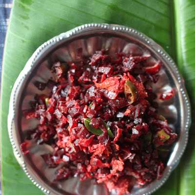 Beetroot Thoran (South Indian Beet Stir-Fry)