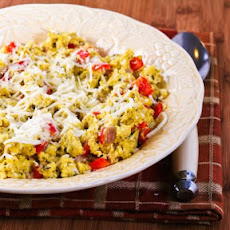 Cheryl's Eggs with Red Pepper, Basil and Cheese