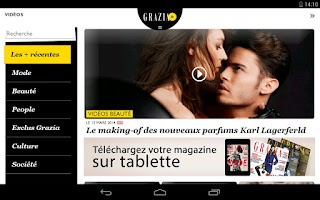 Screenshot of Grazia.fr