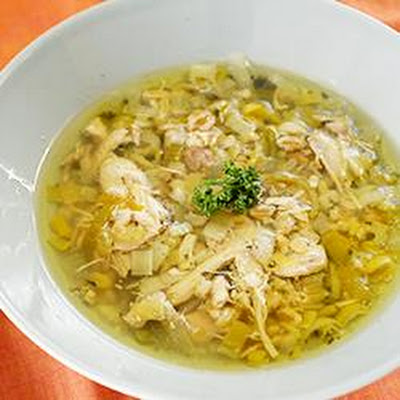 Cock-a-leekie Soup For A Crowd