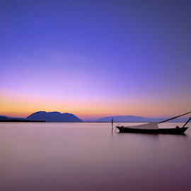 ---------- by Dimitrios Lamprou - Landscapes Waterscapes ( waterscape, ;lon exposure, sunrise, boat )