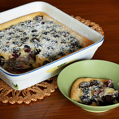 Blackberry Vanilla Clafouti