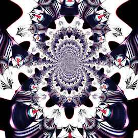 The Infinite Illusion by Yvonne Collins - Digital Art Abstract ( abstract, infinite, patterns, illustration, ilusion )