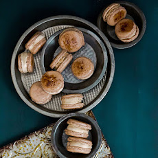 Vietnamese Coffee Ice Cream Sandwich Macarons