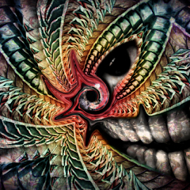 Hyptonteyzed by Simon Eastop - Digital Art Things ( abstract, look, spiral, hypnotic, eyes )