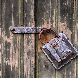 Old lock by Julian Popov - Artistic Objects Other Objects ( old, wood, vintage, lock, aged )
