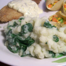 Creamed Mashed Potatoes With Spinach