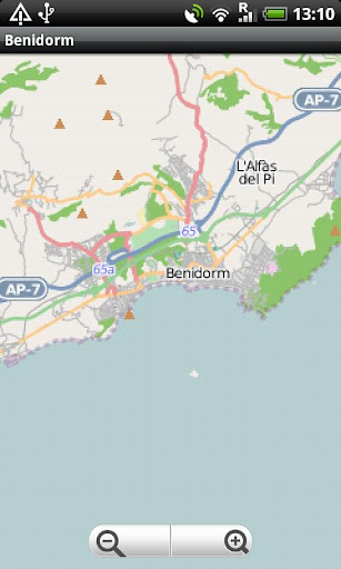 Benidorm Calpe Street Map