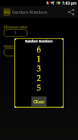 Screenshot of Random Numbers