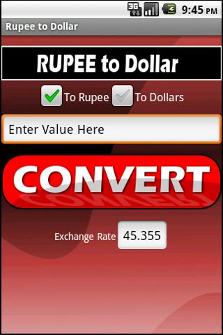 Rupee to Dollar Ad Free
