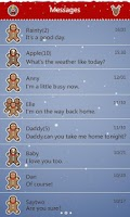 Screenshot of GO SMS Pro Xmas Moose Theme