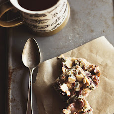 Nut-Caramel Bars with Dried Figs