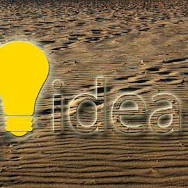 Idea bulb by Dipali S - Typography Words ( sand, idea, bulb, typography )