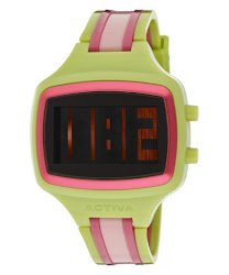 Activa Digital Lime Green & Pink Plastic ACTIVA-AA401-014 Watch