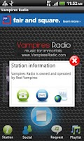 Screenshot of Vampires Radio