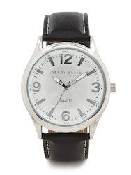 Perry Ellis Black Leather Band