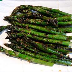 Roasted Asparagus With Garlic Dressing