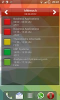 Screenshot of Study timetable
