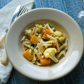 Gluten Free Penne with Roasted Cauliflower and Butternut Squash