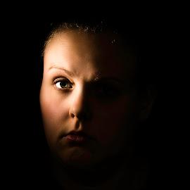 Caroline by Joshua Bidwell - People Portraits of Women ( flash, ocf, beautiful, cincinnati, lebanon, drama, photo, photography, portrait, portraiture, ohio, lighting, dramatic, light,  )