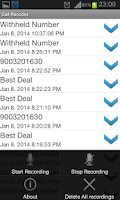 Screenshot of Smart Call Recorder