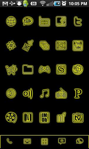 GloWorks Yellow ADW Theme