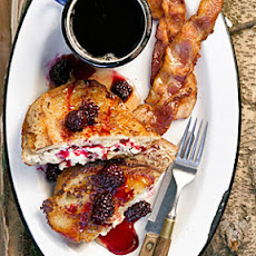 Mascarpone French Toast with Warm Blackberry Syrup