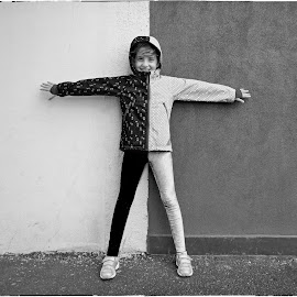 half black half white by Marcel Socaciu - Babies & Children Child Portraits