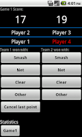 Screenshot of Badminton Score lite