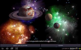 Screenshot of 3D Space Live Wallpaper Full