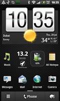 Screenshot of Windcam live meter