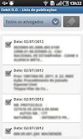 Screenshot of Debit Diários Oficiais