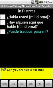 Eng-Spanish Phrasebook Trial - screenshot