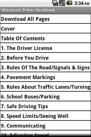 Wisconsin Driver Handbook