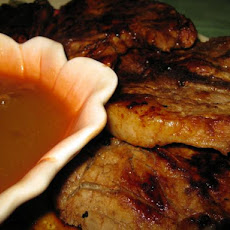 Grilled Hoisin Glazed Pork Chops With Plum Dipping Sauce