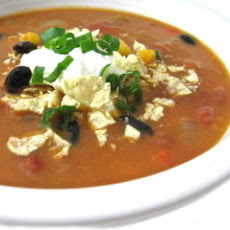 Skinny Chicken Enchilada Soup (Crock Pot or Stove Top)