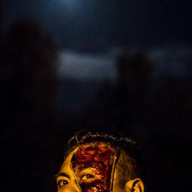 Zip Up by Matt Goodwin - People Body Art/Tattoos ( scary, moon, bloody, zipper, halloween )