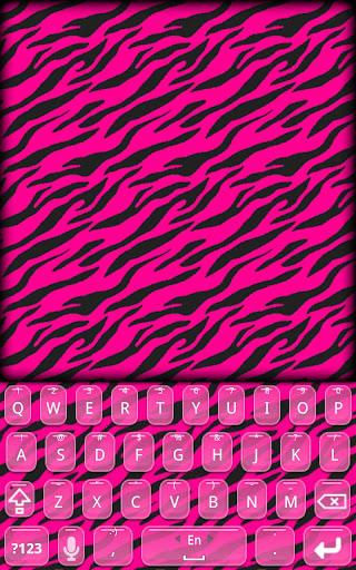 KB SKIN - Hot Pink Zebra