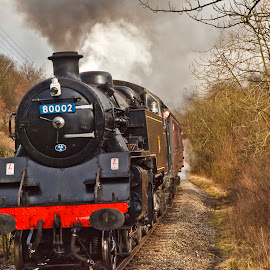 BR standard class 4 tank by Tim Bartlett - Transportation Trains ( keighley and worth valley railway, railway engine, standard class 4 tank, 80002, british rail,  )
