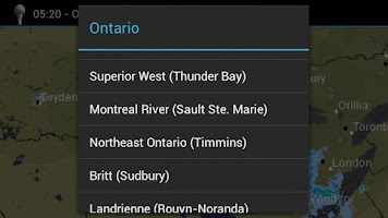 Screenshot of Meteo Radar CANADA