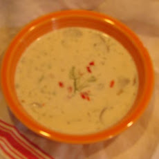 Dilled Crab and Mushroom Chowder
